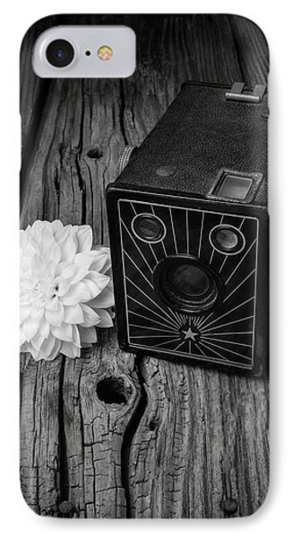 Camera And Dahila IPhone Case by Garry Gay