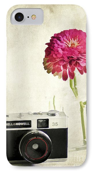 Camera And Flowers Phone Case by Darren Fisher