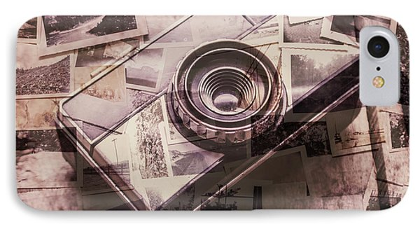 Camera Of A Vintage Double Exposure IPhone Case by Jorgo Photography - Wall Art Gallery