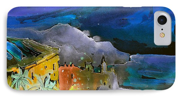 Camogli By Night In Italy Phone Case by Miki De Goodaboom