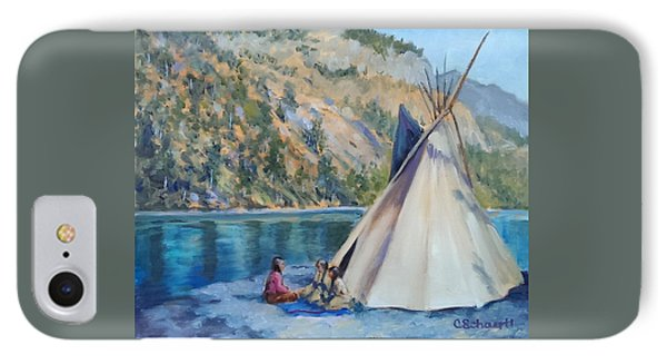 Camp By The Lake IPhone Case by Connie Schaertl