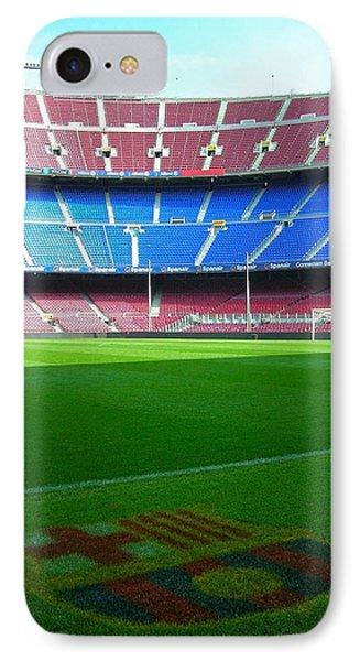 Camp Nou - Barcelona IPhone Case by Juergen Weiss