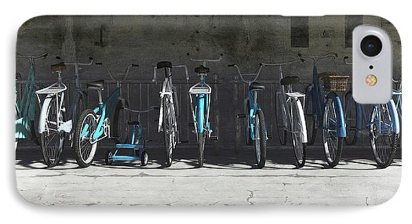 Campbell Blue Bike Rack IPhone Case by Cynthia Decker