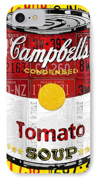 Campbells Tomato Soup Can Recycled License Plate Art IPhone Case