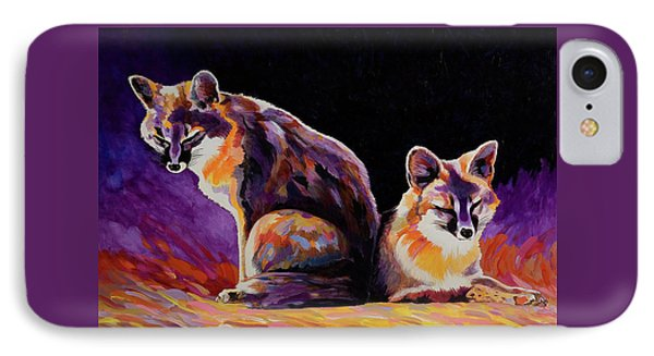 IPhone Case featuring the painting Campfire Surveillance Team by Bob Coonts