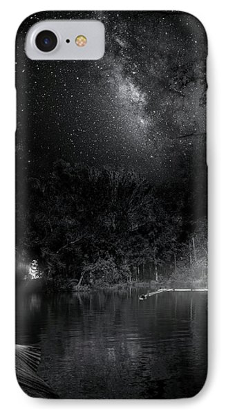 IPhone Case featuring the photograph Campfires On Milky Way River by Mark Andrew Thomas
