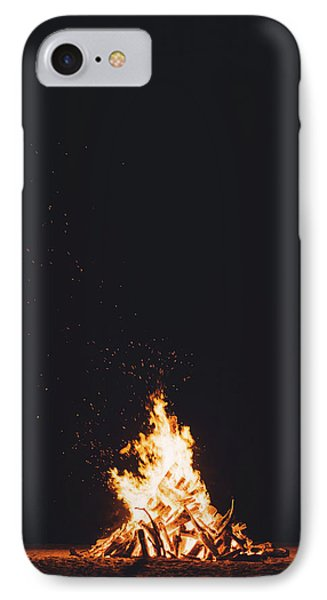 Camping Fire IPhone Case by Happy Home Artistry