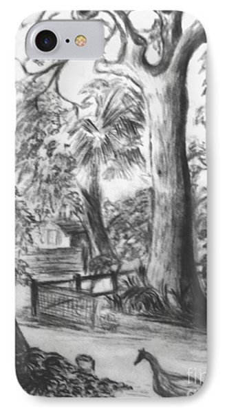 IPhone Case featuring the drawing Camping Fun by Leanne Seymour
