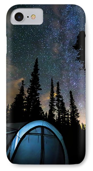 IPhone 7 Case featuring the photograph Camping Star Light Star Bright by James BO Insogna