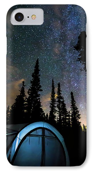 IPhone Case featuring the photograph Camping Star Light Star Bright by James BO Insogna