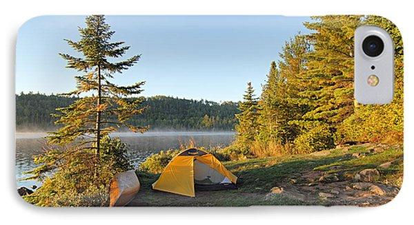 Campsite On Alder Lake Phone Case by Larry Ricker