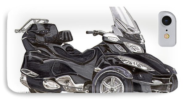 IPhone Case featuring the painting Can-am Spyder Trike by Jack Pumphrey