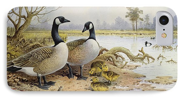 Canada Geese IPhone 7 Case by Carl Donner