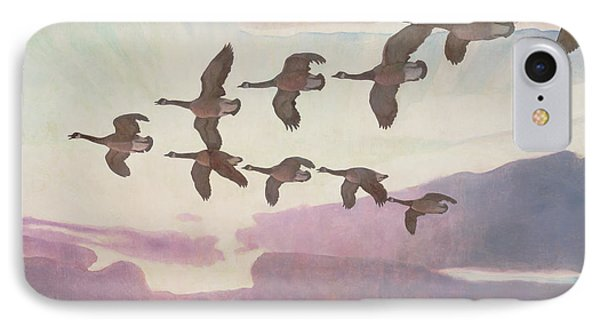 Canada Geese In Spring IPhone Case by Newell Convers Wyeth