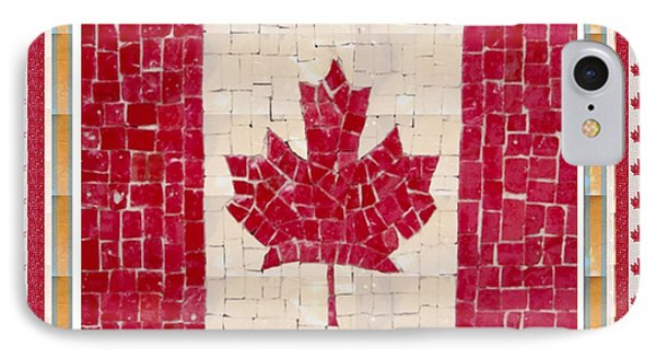 Canada Golory Decorations  Proud Canadian Flag  Artistic Version Sizes Colors And Image   IPhone Case by Navin Joshi