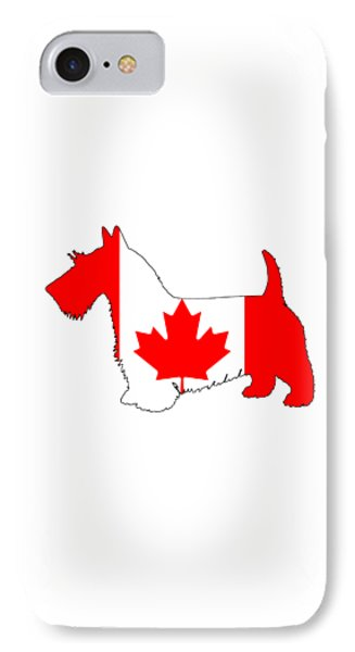 Canada Scottish Terrier IPhone Case by Mordax Furittus