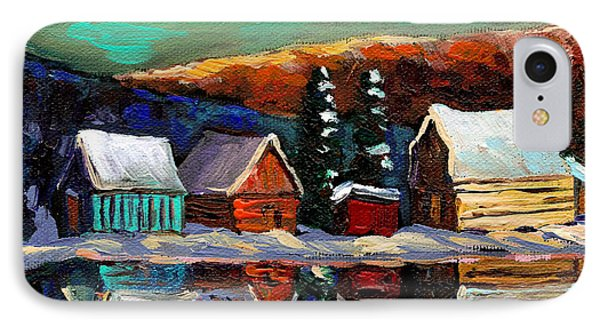 Canadian Art Laurentian Landscape Quebec Winter Scene Phone Case by Carole Spandau