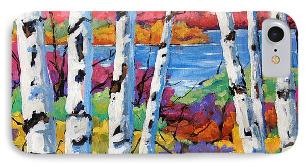 Canadian Birches By Prankearts IPhone Case by Richard T Pranke