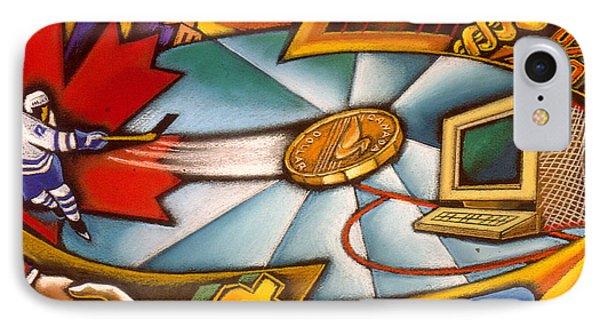 Canadian Economy  IPhone Case by Leon Zernitsky