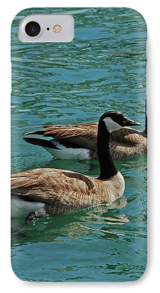 Canadian Geese Phone Case by Carol  Eliassen