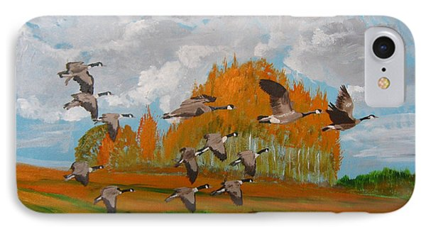 Canadian Geese Phone Case by Richard Le Page