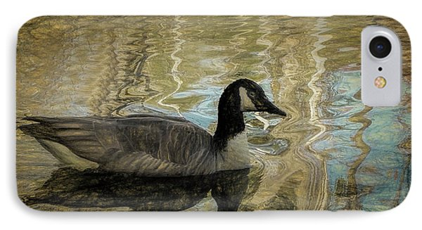 IPhone Case featuring the painting Canadian Goose by Steven Richardson