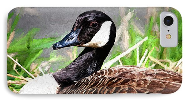 Geese iPhone 7 Case - Canadian Goose by Tom Mc Nemar