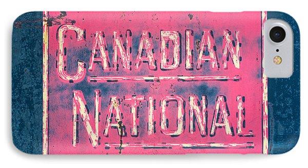Canadian National Railroad Rail Car Signage IPhone Case