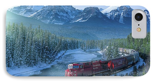 Canadian Pacific Railway Through The Rocky Mountains IPhone Case by Rod Jellison