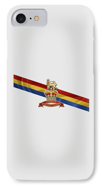 Canadian Provost Corps - C Pro C Badge Over Unit Colours IPhone Case by Serge Averbukh