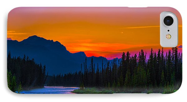 Canadian Rocky Sunset IPhone Case by John Roberts