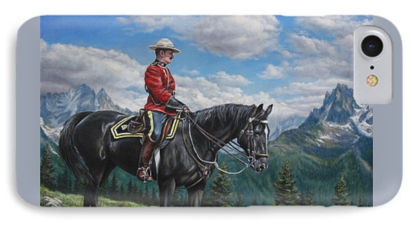 IPhone Case featuring the painting Canadian Majesty by Kim Lockman