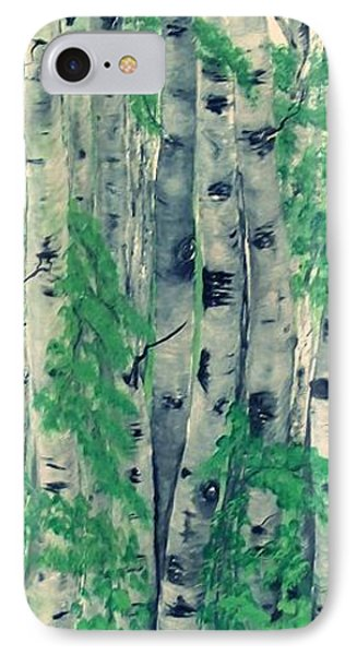 IPhone Case featuring the painting Canadian White  Poplar by Sharon Duguay