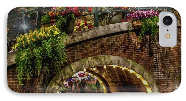 Canal And Bridge  IPhone Case by Sandy Moulder