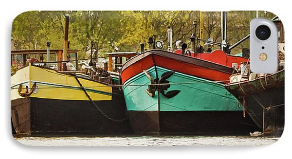 Canal Boats IPhone Case by Jill Smith