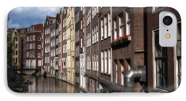 Canal Houses Phone Case by Joan Carroll