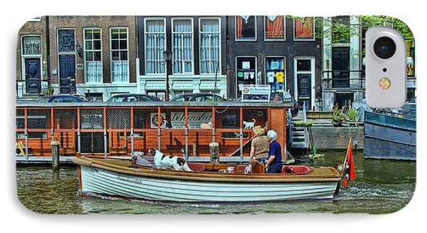 IPhone Case featuring the photograph Amsterdam Canal Scene 10 by Allen Beatty