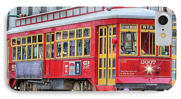 IPhone 7 Case featuring the photograph Canal Street Streetcar by JC Findley
