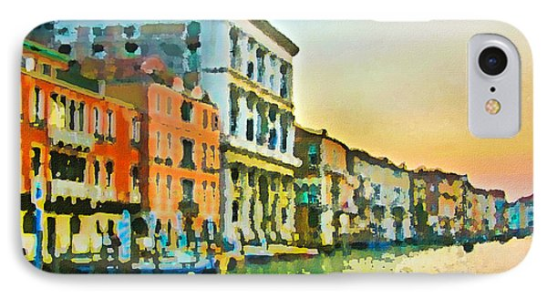 Canal Sunset - Venice IPhone Case by Tom Cameron