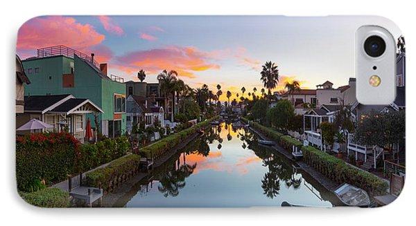 Venice Beach iPhone 7 Case - Canals Of Venice Beach by Sean Davey