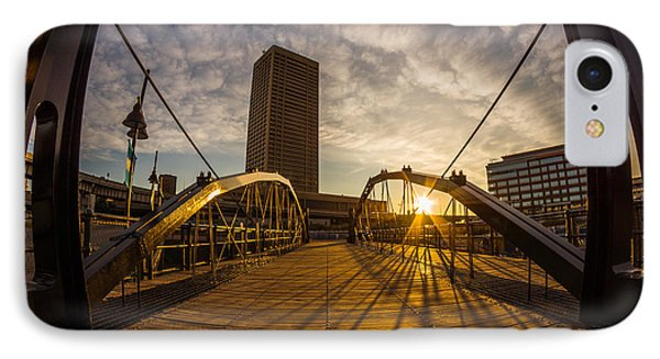 IPhone Case featuring the photograph Canalside Dawn No 7 by Chris Bordeleau