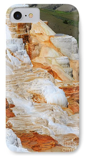 Canary Spring Mammoth Hot Springs Upper Terraces Phone Case by Louise Heusinkveld