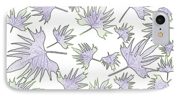 Canary Vine Leaves - Purple And Green Phone Case by Sandra Foster