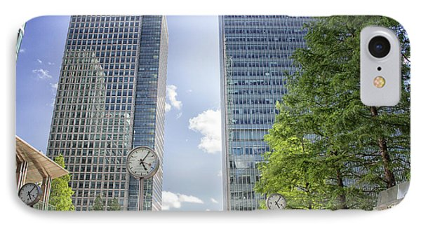 Canary Wharf Clocks IPhone Case