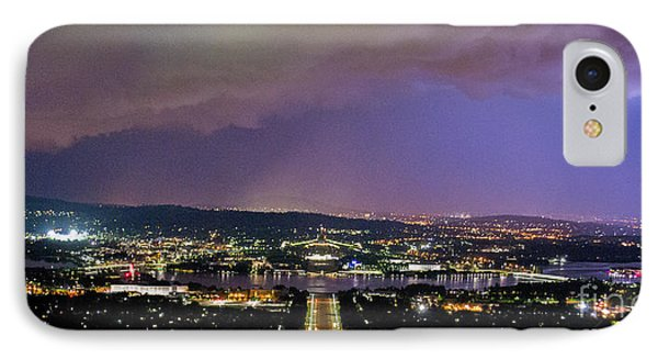 IPhone Case featuring the photograph Canberra Stormy Night by Angela DeFrias