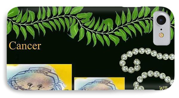IPhone Case featuring the digital art Cancer by The Art of Alice Terrill