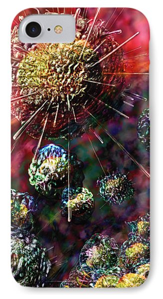 Cancer Cells IPhone Case by Russell Kightley
