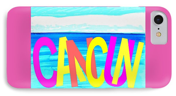 Cancun Poster T-shirt IPhone Case