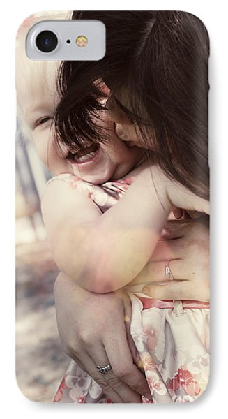 Candid Little Girl With Mother In The Autumn Park IPhone Case by Jorgo Photography - Wall Art Gallery