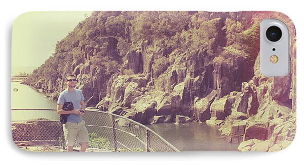 Candid Retro Man On Travel Tour Of Tasmania IPhone Case by Jorgo Photography - Wall Art Gallery